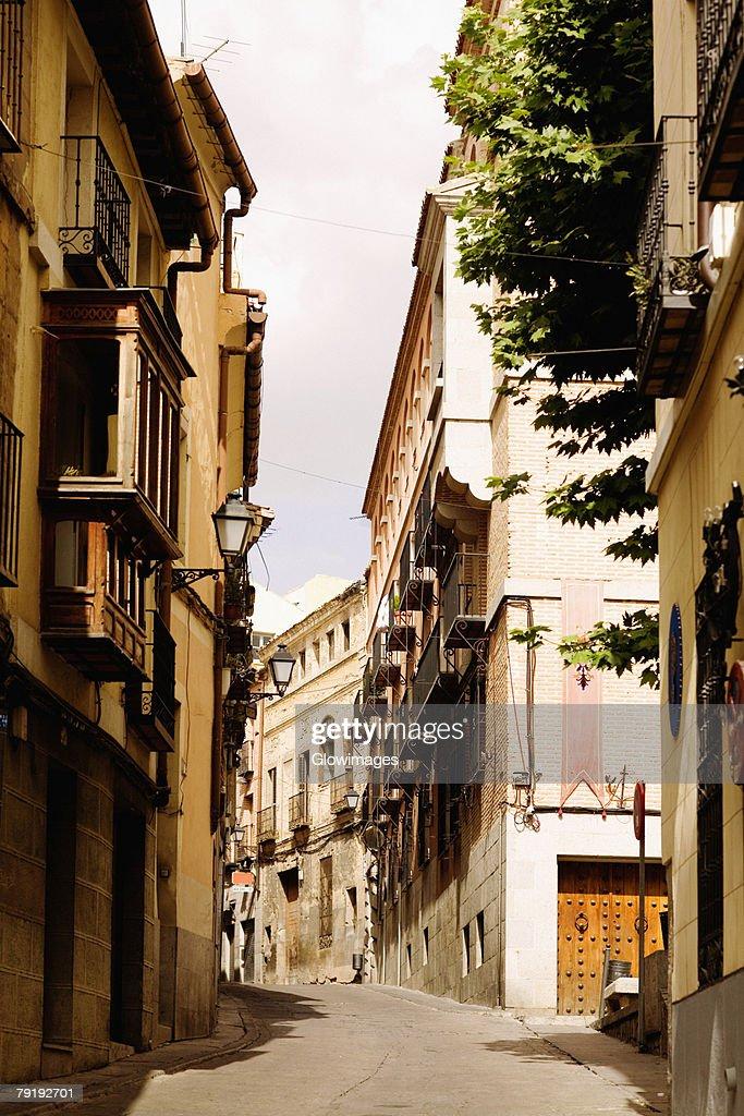 Buildings along a street, Toledo, Spain : Foto de stock