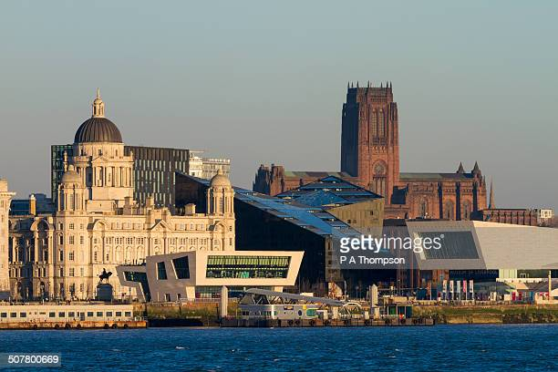 Buildings along Liverpool waterfront skyline
