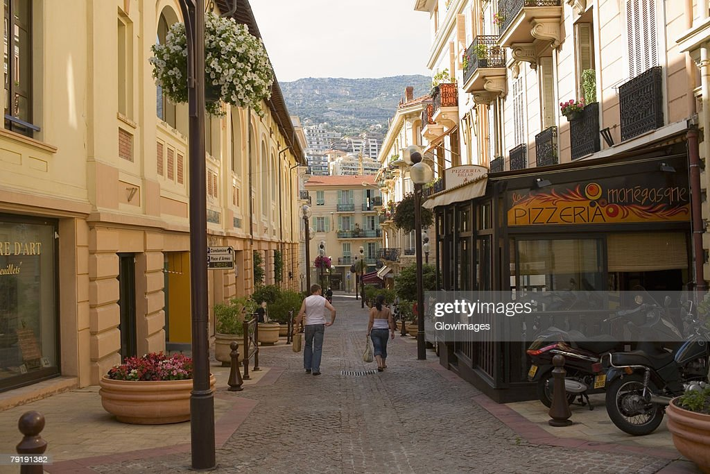 Buildings along the street, Nice, France : Stock Photo