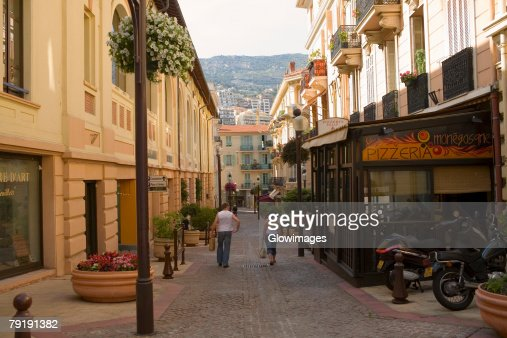 Buildings along the street, Nice, France : Foto de stock