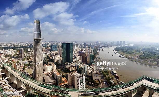 Buildings and landscape of center Saigon