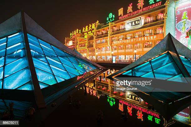 Buildings and lights in xian