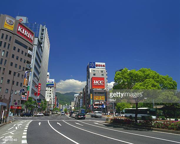 Buildings and the Roads of Sanmiya, Kobe, Japan