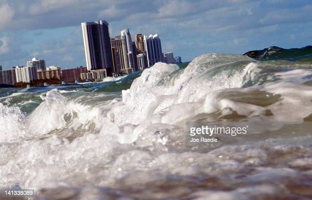 Buildings are seen near the ocean as reports indicate that MiamiDade County in the future could be one of the most susceptible places when it comes...