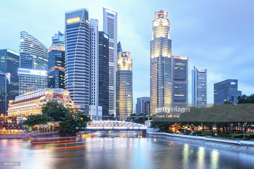 Buildings at Singapore river