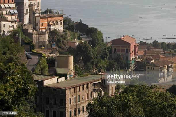 Buildings at the hillside, Vietri Sul Mare, Costiera Amalfitana, Salerno, Campania, Italy