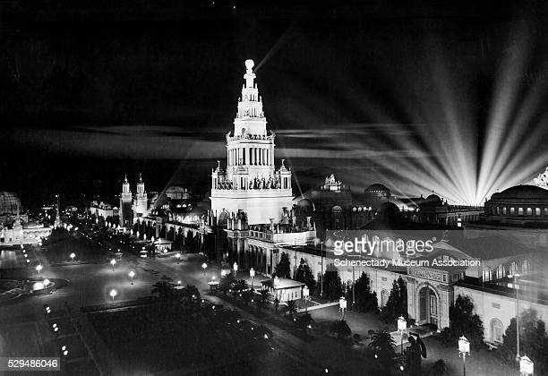 Buildings at the San Francisco PanamaPacific International Exposition billed as the 'greatest spectacle of illumination in the world'