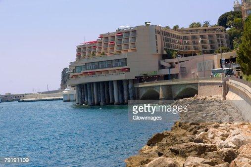 Buildings at the waterfront, Monte Carlo, Monaco : Stock Photo