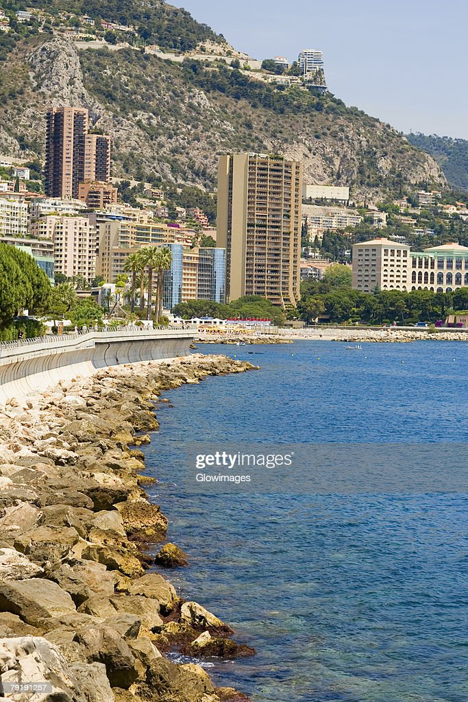 Buildings at the waterfront, Monte Carlo, Monaco : Stock Photo