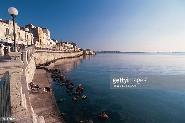Buildings at the waterfront Ortygia Siracusa Sicily Italy
