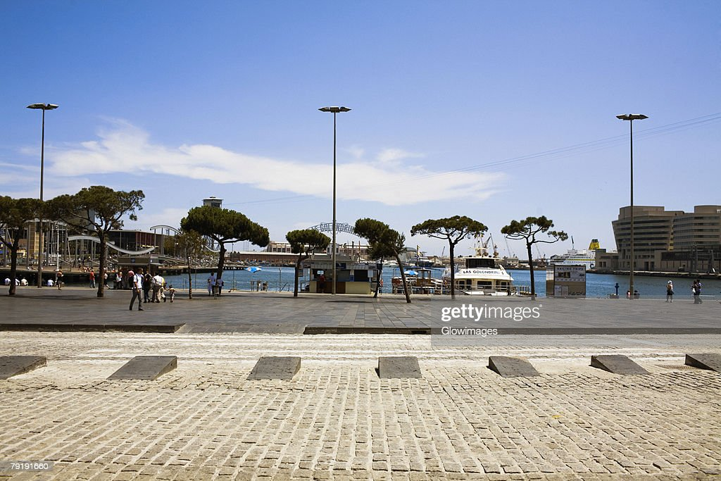 Buildings at the waterfront, World Trade Centre, Barcelona, Spain : Stock Photo