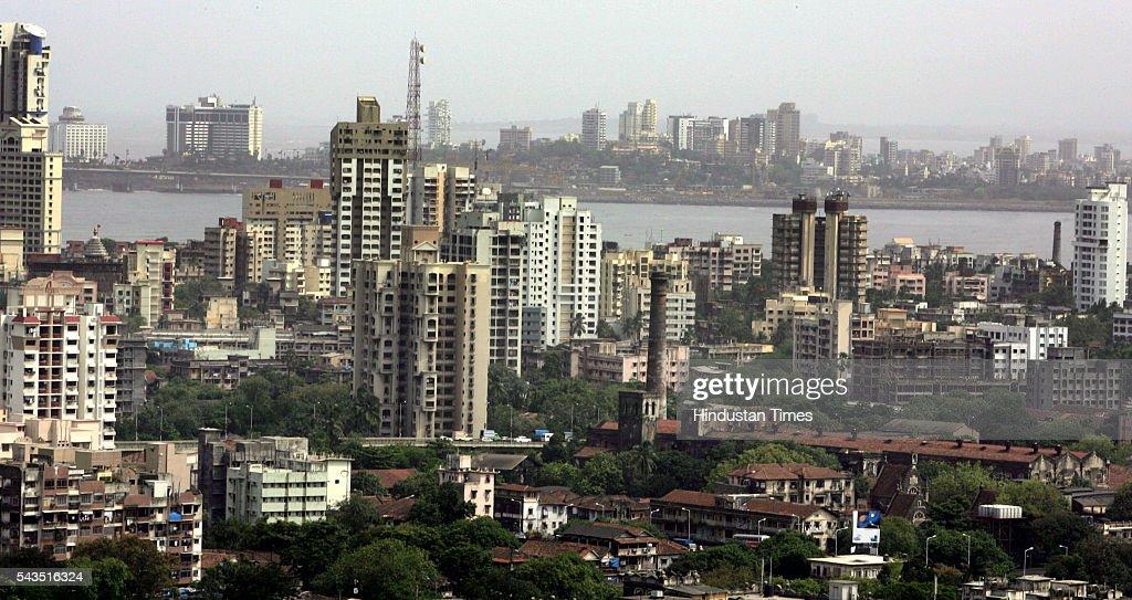 Buildings highrise in Mumbai Skyline on July 17, 2005 in Mumbai, India.