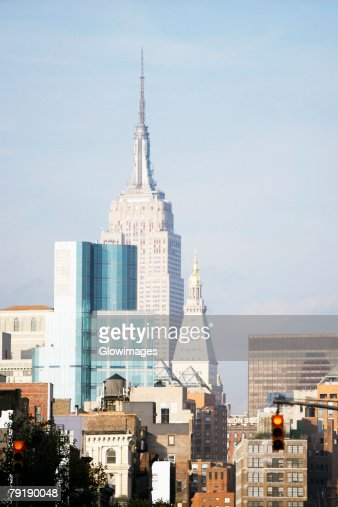 Buildings in a city, Empire State Building, Manhattan, New York City, New York State, USA : Foto de stock