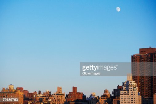 Buildings in a city, Manhattan, New York City, New York State, USA : Stock Photo