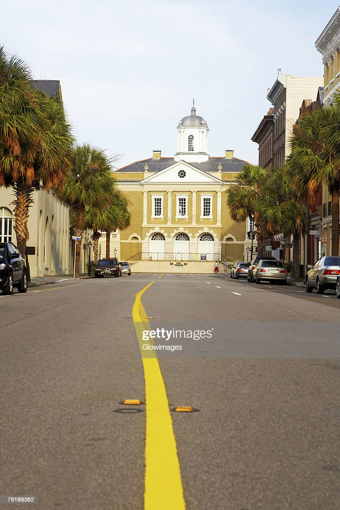 Buildings in a city, Old Exchange Building, Charleston, South Carolina, USA : Foto de stock