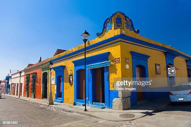 Buildings in a street, Oaxaca, Oaxaca State, Mexico