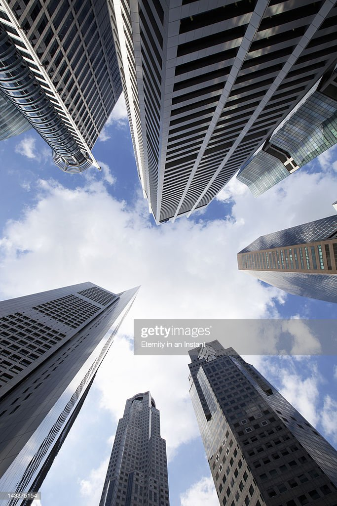 Buildings in Central Business District, Financial : Stock Photo