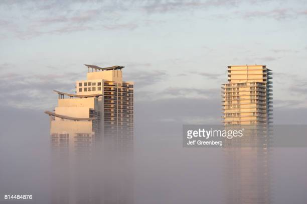 Buildings in Murano surrounded in fog