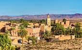 Buildings in the old town of Ouarzazate, a city in south-central Morocco. North Africa