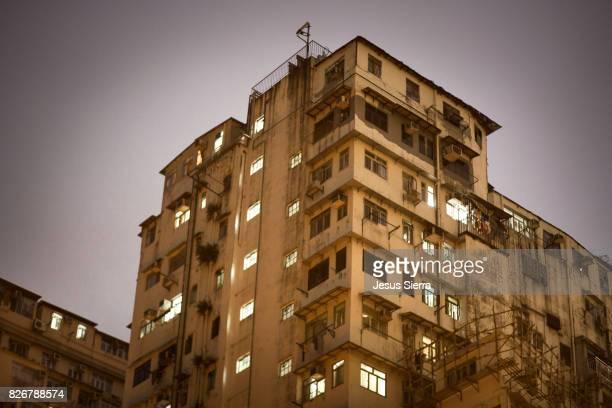 Buildings in Quarry Bay, Hong Kong. China.