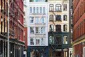 Block of Historic Buildings in the Soho neighborhood of Manhattan, New York City