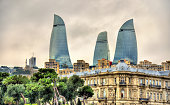 Buildings in the city centre of Baku - Azerbaijan