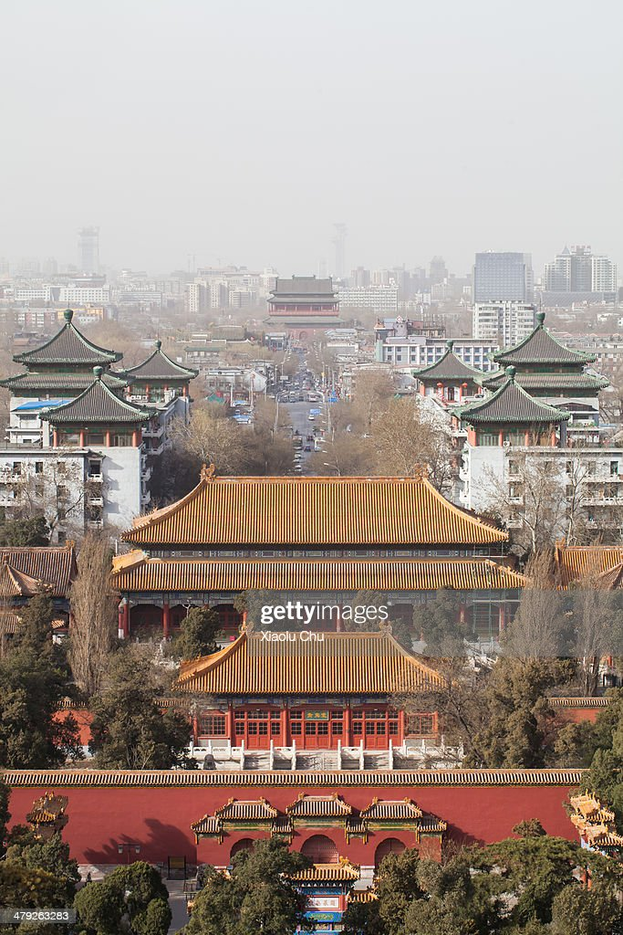 Buildings in the Forbidden City are seen as winds dissipate some of the smog on March 17, 2014 in Beijing, China. China is vowing to ammend its procedures to curb pollution as smog in some areas of China have registered over 20 times the level considered safe by the World Health Organization (WHO).
