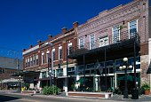 Buildings in the Latin Quarter rejuvenated old industrial district Ybor City Tampa Florida United States of America