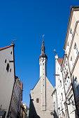 Buildings in the Old Town in Tallinn, Estonia