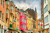 Buildings in the old town of Aachen - Germany, North Rhine-Westphalia