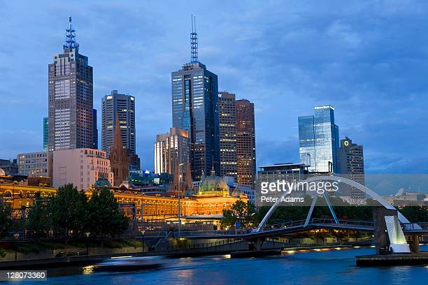 Buildings on bank of Yarra river, Melbourne, Victoria, Australia