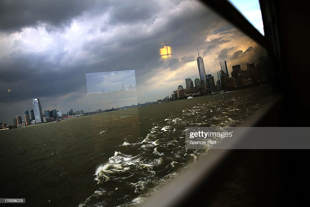 Buildings on the Manhattan and Jersey City skyline are seen from the Staten Island Ferry on June 11 2013 in New York City In a highly anticipated...