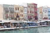 Buildings on the seafront of Chania, Crete, Greece