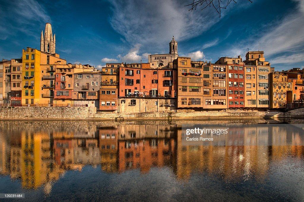 Buildings reflection, Girona