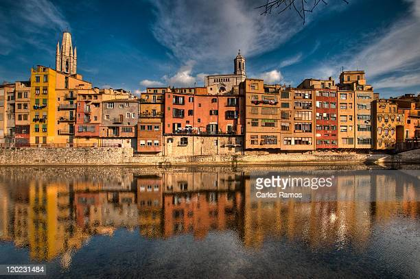Buildings reflection, Girona