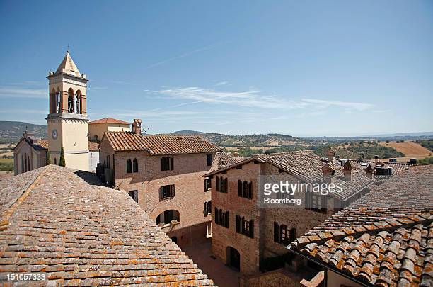 Buildings stand in the medieval village of Solomeo where Brunello Cucinelli SpA is based near Perugia Italy on Thursday Aug 30 2012 Cucinelli follows...