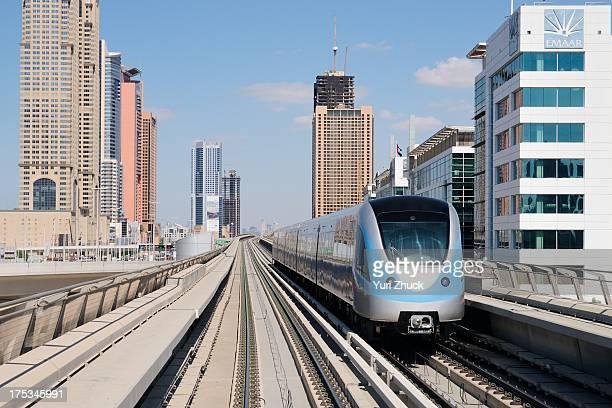 EMU built by Kinki Sharyo for RTA between Nakheel and Dubai Internet City stations Red line