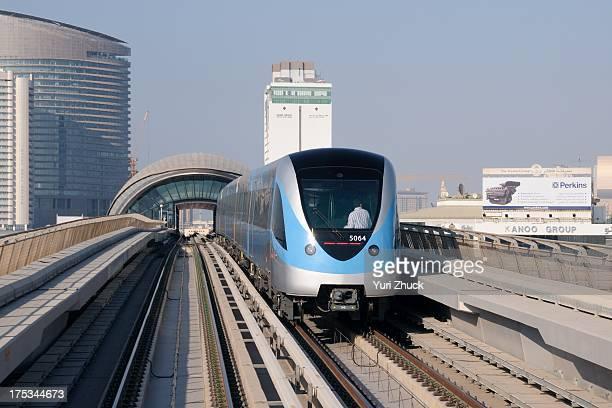 EMU built for RTA by Kinki Sharyo seen here between Al Jafiliya and Al Karama stations