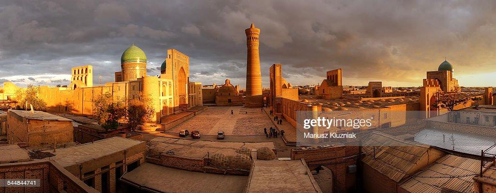 Bukhara old town sunset panorama