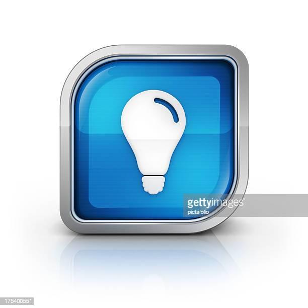bulb lamp glossy icon