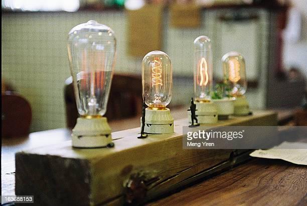 Bulbs on the table