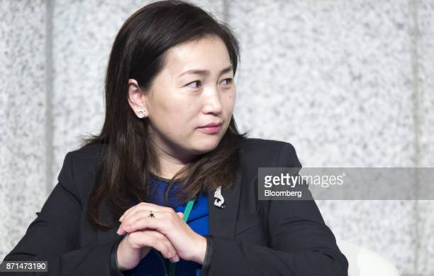 Bulgantuya Khurelbaatar Mongolia's deputy minister of finance attends a panel discussion at an event marking the 20th anniversary of the...