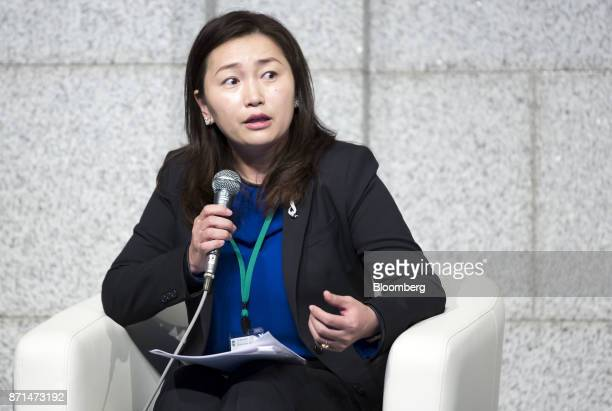 Bulgantuya Khurelbaatar Mongolia's deputy minister of finance speaks during a panel discussion at an event marking the 20th anniversary of the...