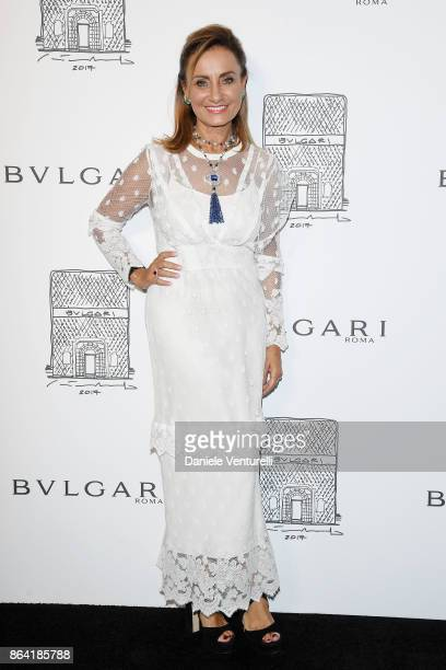 Bulgari creative director Lucia Silvestri attends a party to celebrate the Bvlgari Flagship Store Reopening on October 20 2017 in New York City