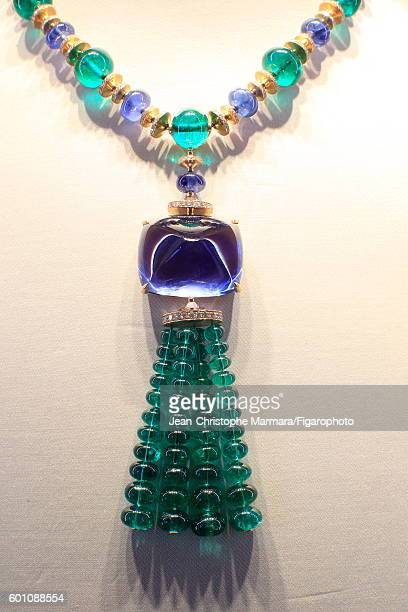 Bulgari necklace is photographed for Le Figaro on March 2 2016 in Rome Italy CREDIT MUST READ JeanChristophe Marmara/Figarophoto/Contour by Getty...