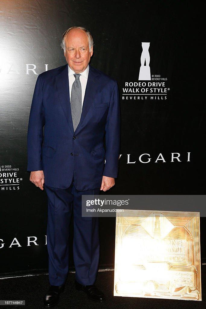 Bulgari Vice Chairman Nicola Bulgari attends the Rodeo Drive Walk Of Style honoring BVLGARI held at Bulgari on December 5, 2012 in Beverly Hills, California.
