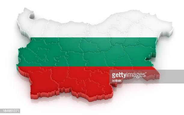 Bulgaria map with flag