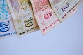 Bulgarian bankotes on white