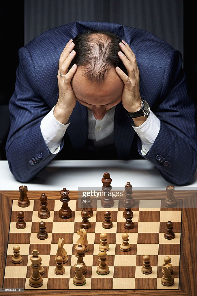 Bulgarian chess grandmaster <a gi-track='captionPersonalityLinkClicked' href=/galleries/search?phrase=Veselin+Topalov&family=editorial&specificpeople=2093743 ng-click='$event.stopPropagation()'>Veselin Topalov</a> takes part in the last round of the Norway Chess tournament in Stavanger on May 18, 2013. AFP PHOTO / KENT SKIBSTAD / NTB SCANPIX NORWAY / NORWAY OUT