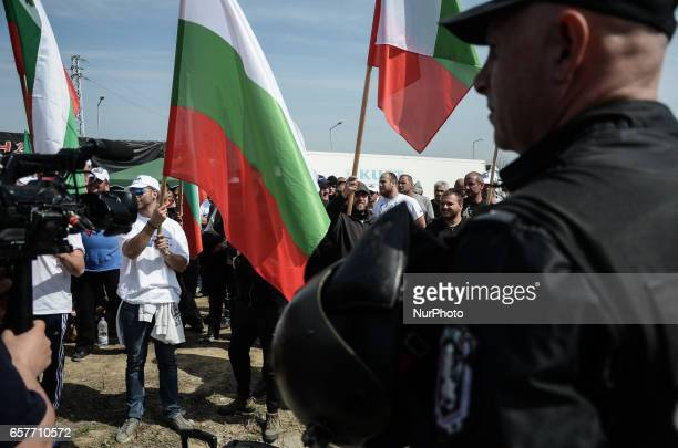 Bulgarian Nationalists of the United Patriots blocked Bulgaria Turkish border crossing point of Kapitan Andreevo some 280 km east of the capital of...